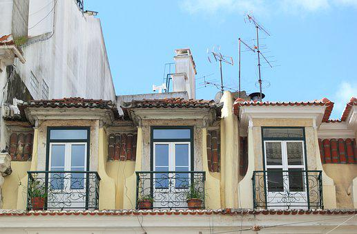 Portugal, Lisbon, Trafaria, House, Windows, Housing