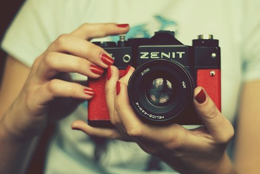 Camera, Zenith, Red, Lens, Retro Camera