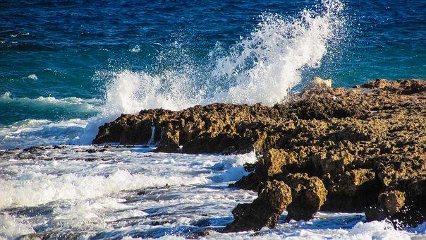 Wave, Smashing, Sea, Nature, Smash, Splash, White