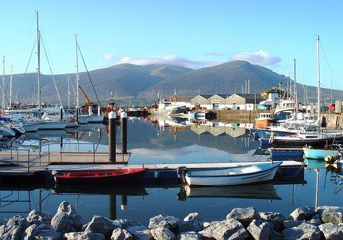 Ireland, Marina, Port, Bay, Harbor, Water, Boats, Ships