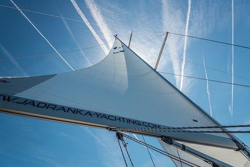 Sail, Main Sail, Sky, Sailing