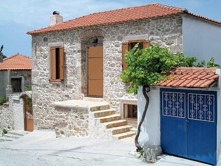 Greece, Lesbos, Stone, Home, Tradition, Island