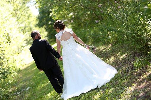 Wedding, Bride, Groom, Woman, Marriage, Love, Couple