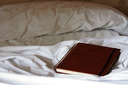 Notebook, Daily, Bed, Thinking, Reflection