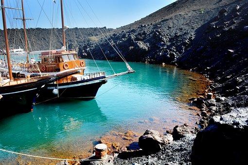 Volcano, Greece, Eruption, Santorini, Strip, Boiler