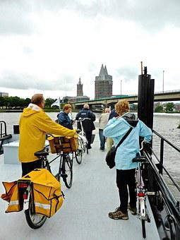 Ferry, Bicycles, Roermond, Travel, Crossing