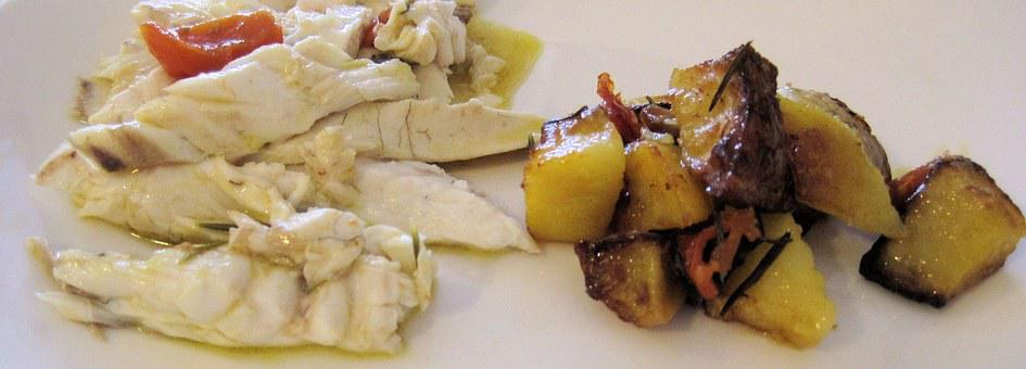 Grilled Rombo, Whitefish, Herbed Potatoes, Italy