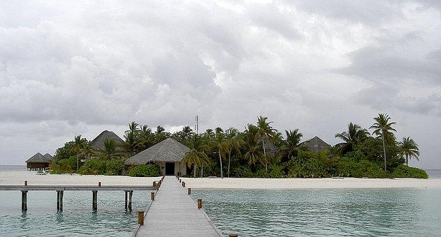 Mirihi, Maldives, Sea, Island