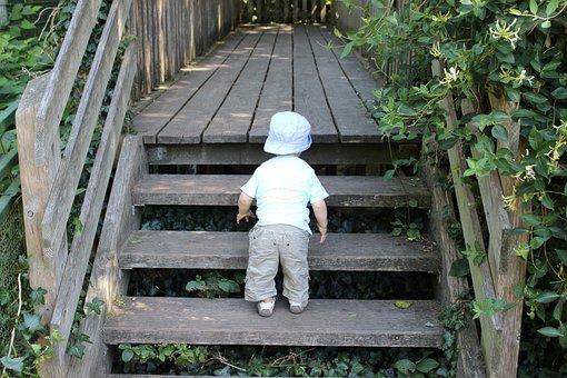 Little Explorers, Little Boy, Children, Stairs