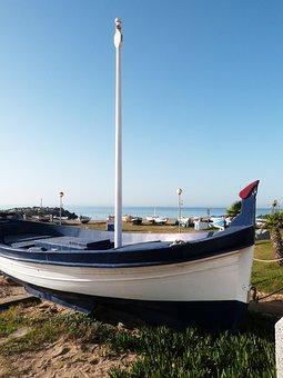 Barca, Mediterranean, Beach, Vilassar De Mar, Sun, Sky