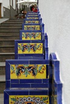 Stairs, Mosaic, Gran Canaria, Spain, Canary Islands