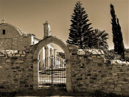 Gate, Entrance, Stone, Old, Architecture, Church