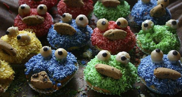 Muffins, Pgdboss, Colorful, Color, Eat, Red, Blue