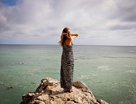 Ocean, Peace, Woman, Forward, Future, Girl, Healthy