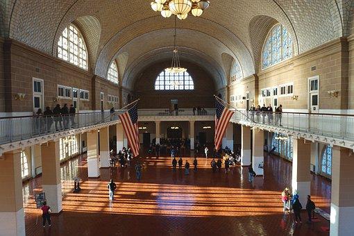 New York, New York City, Nyc, Ellis Island, City