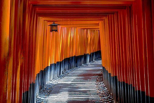 Fushimi Inari Shrine, Torii, Temple, Shinto