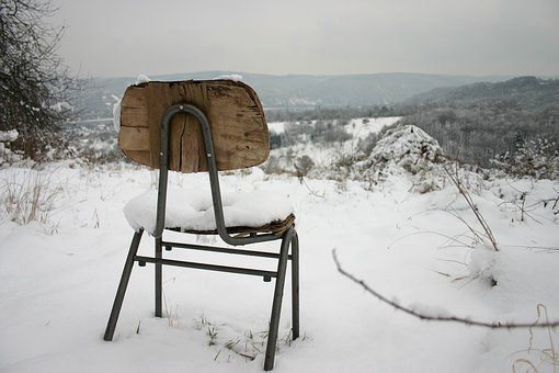 Winter, Chair, Lonely, Snow, White, Winter Blast, Cold