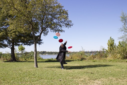 Frisbees, Lake, Stop Motion