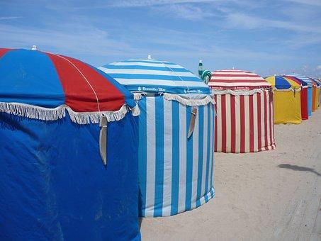 Beach, Trouville, Stripes