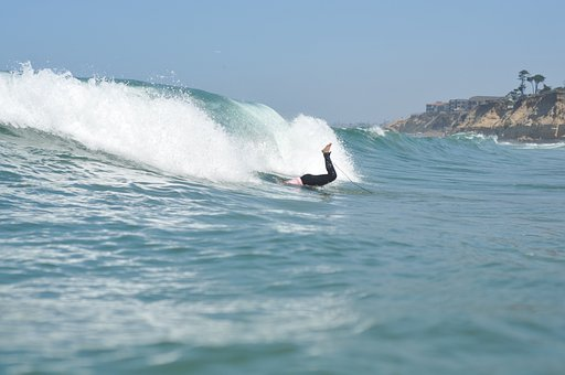 Surfing, Duck Dive, Ocean, Sunshine, Summer, Water