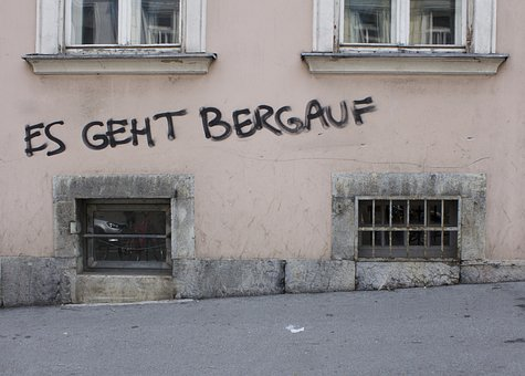 Wall, Written, Things Are Looking Up, Graz, Writting