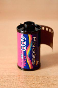 Analog, Film, Box, Film Canister, 35mm Film