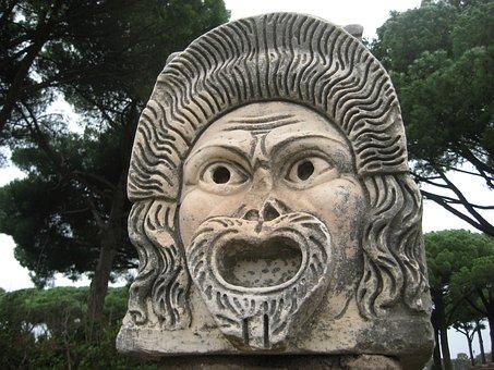 Ostia Antica, Drama, Italy, Rome, Ancient, Comedy