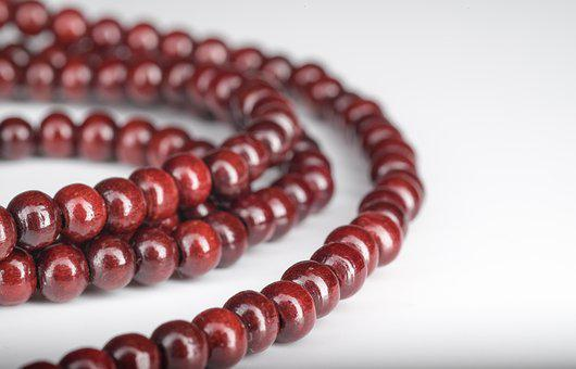 Chaplet, Round, Brown, Placer, Beads, Wooden Beads