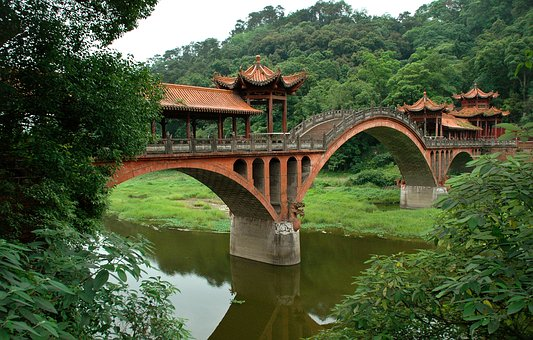 Bridge, Leshan, China, Architecture