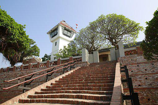 Tainan, Ping An, Fort Zeelandia, Stairs, Building