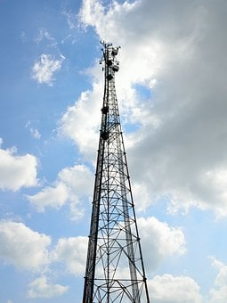 Microwave Tower, Cell Phone, Communications, Radio