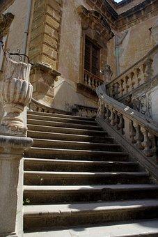 Villa Palagonia, Bagheria, Sicily, Italy, Stairs