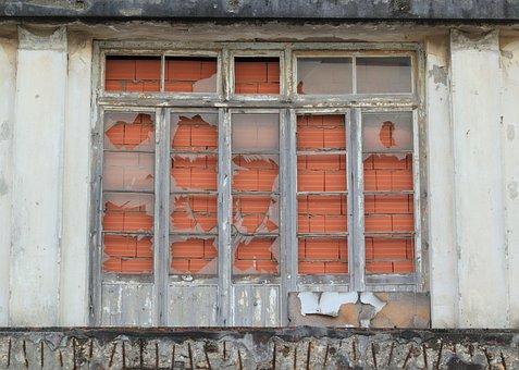 Portugal, Window, Broken, Glass, Trafaria