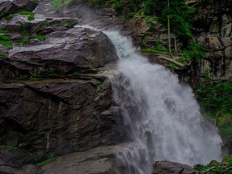 Krimml Waterfalls, Stones, Water, River, Nature, Pebble