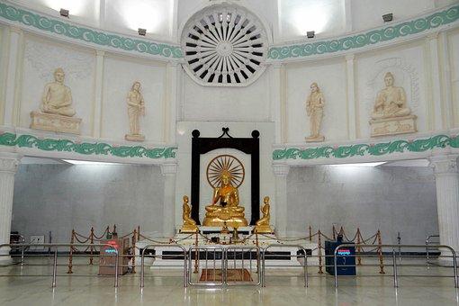 Buddha Vihar, Gulbarga, Buddha Statue, Gold, Buddhism