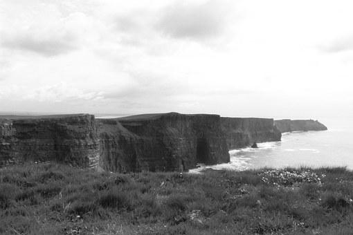 Ireland, Cliffs Of Moher, Sea