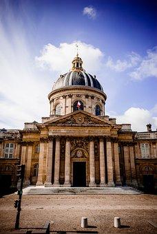 Mazarine Library, Paris, Columns, Dome, Architecture
