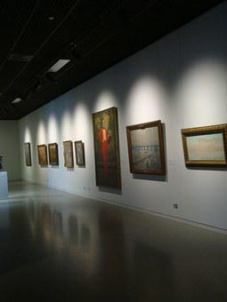 Gallery, Art, Paintings, Exhibition, Museum, Light