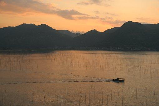 Tourism, Natural Landscape, Silhouette, Xiapu, Sunrise