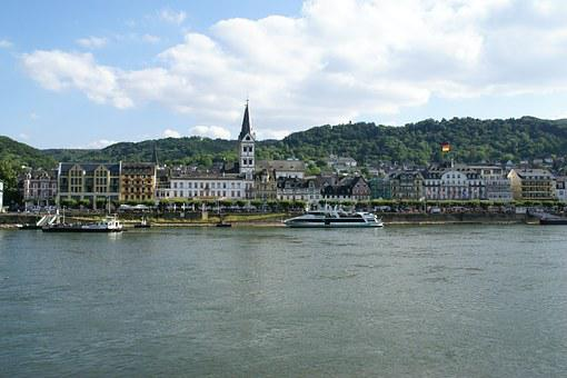 Boppard, Rhine, Germany, Town, Water, River, Waterfront