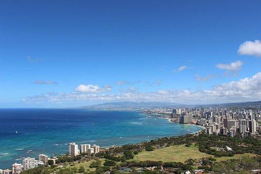 Beach, Hawaii, Ocean, Hawaii Beach, Wakiki