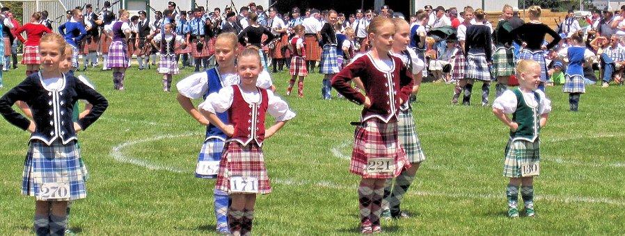 Highland Dance Competition, Children, Summer, Festival