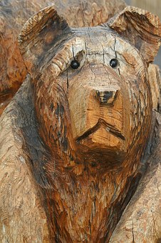 Carving, Wood, Bear, Carved, Hobby, Statue