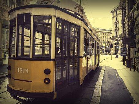 Miland, Italy, Tram, City, Milan, Public