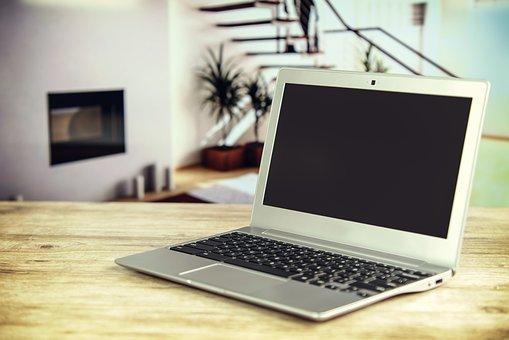 Laptop, Vintage, Apartment, Dining Table, Wood, Lab