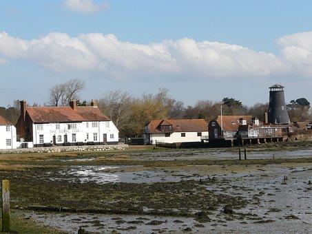 Harbour, Water, Harbor, Sea, Receded, Langstone