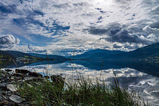 Norway, Fjord, Beautiful Landscape, Summer, Day, Sky