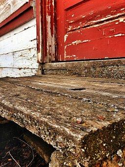 Step, Old Wood, Decay, Internment Camp, Minidoka, Idaho