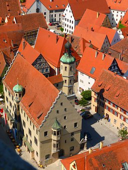 Roof, Roofs, Home, Homes, Old Town, Red, Nördlingen