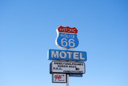 Route 66, Street Sign, Usa